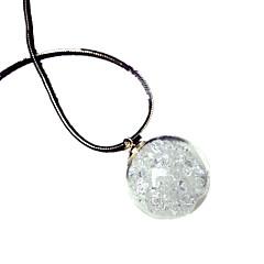 cheap Luminous Jewelry-Women's Luminous Pendant Necklace - Personalized Luminous Fluorescent Illuminated Circle Light Green Necklace For Halloween Club
