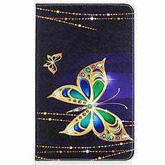 preiswerte Tablet-Hüllen-Hülle Für Samsung Galaxy Ganzkörper-Gehäuse Tablet-Hüllen Schmetterling Hart PU-Leder für Tab A 10.1 (2016)