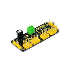 2016 new! keyestudio arduino 용 12 비트 PWM-12c 인터페이스가 내장 된 16 채널 서보 드라이브 보드