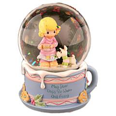 رخيصةأون -كرات الصندوق الموسيقي ألعاب دائري كرتون كريستال 1 قطع للأطفال أنثى عيد ميلاد عيد الحب هدية