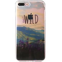 Недорогие Кейсы для iPhone 6 Plus-Кейс для Назначение Apple iPhone 7 IMD С узором Кейс на заднюю панель Пейзаж Цветы Мягкий ТПУ для iPhone 7 Plus iPhone 7 iPhone 6s Plus