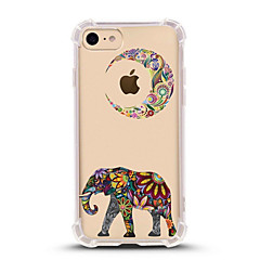 billige iPhone 6 Plus Plus-etuier-Til iPhone X iPhone 8 Etuier Ultratyndt Transparent Mønster Bagcover Etui Elefant Blødt TPU for Apple iPhone X iPhone 8 Plus iPhone 8