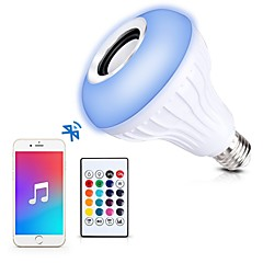 1set 12W E27 LED Smart Bulbs A80 1 leds COB Bluetooth Dimmable Remote-Controlled Decorative RGB 1000lm 2700-9000K AC85-265V