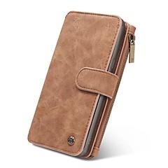 Недорогие Чехлы и кейсы для Galaxy Note 5-Кейс для Назначение SSamsung Galaxy Note 8 Note 5 Кошелек Бумажник для карт Флип Магнитный Чехол Сплошной цвет Твердый Настоящая кожа для