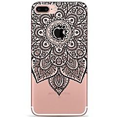 billige iPhone-etuier-Til iPhone 7 iPhone 7 Plus Etuier Ultratyndt Transparent Mønster Bagcover Etui Mandala-mønster Blonde Tryk Blødt TPU for Apple iPhone 7