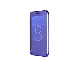 Недорогие Чехлы и кейсы для Galaxy Note 5-Кейс для Назначение SSamsung Galaxy Note 8 Note 5 Покрытие Зеркальная поверхность Флип Авто Режим сна / Пробуждение Чехол Сплошной цвет