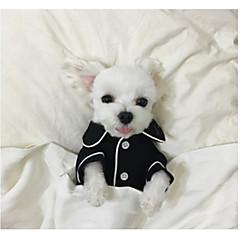 お買い得  犬用ウェア&アクセサリー-犬 パジャマ 犬用ウェア ブリティッシュ ブラック / ピンク / ライトブルー シルク コスチューム ペット用 男性用 / 女性用 カジュアル/普段着