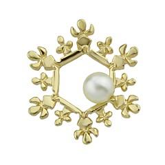 お買い得  ブローチ-女性用 ブローチ ジュエリー ファッション シンプルなスタイル 真珠 合金 その他 スノーフレーク ジュエリー 用途 日常 カジュアル