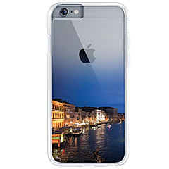 Недорогие Кейсы для iPhone 5-Кейс для Назначение Apple iPhone 7 Plus iPhone 7 Ультратонкий Прозрачный С узором Кейс на заднюю панель Вид на город Мягкий ТПУ для