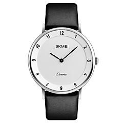 preiswerte Tolle Angebote auf Uhren-SKMEI Herrn Armbanduhr Japanisch Kalender / Wasserdicht / Cool Leder Band Luxus / Modisch / Elegant Schwarz