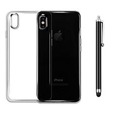 Недорогие Кейсы для iPhone 4s / 4-Кейс для Назначение Apple iPhone X iPhone 8 Защита от удара Прозрачный Кейс на заднюю панель Сплошной цвет Мягкий ТПУ для iPhone X iPhone