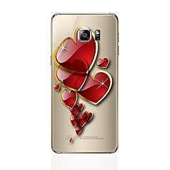 olcso Galaxy S6 tokok-Case Kompatibilitás Samsung Galaxy S8 Plus S8 Átlátszó Minta Hátlap Szív Puha TPU mert S8 S8 Plus S7 edge S7 S6 edge plus S6 edge S6 S5 S4