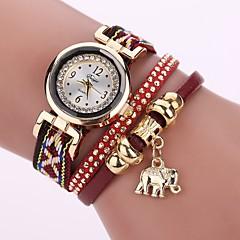 preiswerte Damenuhren-Damen Modeuhr Armband-Uhr Simulierter Diamant Uhr Quartz Imitation Diamant PU Band Analog Charme Freizeit Böhmische Weiß / Blau / Rot - Braun Blau Dunkelrot