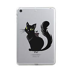 עבור iPad (2017) כיסויים מכסים ל שקוף תבנית כיסוי אחורי מגן חתול שקוף חג ליל כל הקדושים רך TPU ל Apple iPad (2017) iPad Pro 12.9'' iPad