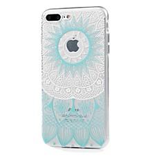 Назначение iPhone X iPhone 8 Чехлы панели Ультратонкий Прозрачный С узором Задняя крышка Кейс для Кружева Печать Мягкий Термопластик для