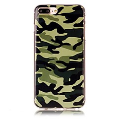 billige iPhone 6 Plus Plus-etuier-Etui Til Apple iPhone X iPhone 8 Mønster Bagcover Camouflage Blødt TPU for iPhone X iPhone 8 Plus iPhone 8 iPhone 7 Plus iPhone 7 iPhone
