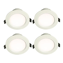 cheap Indoor Lights-4pcs 4 W 7 LEDs LED Downlights Warm White / White 220 V / CE Certified / 80