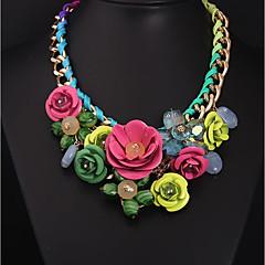 preiswerte Halsketten-Damen Statement Ketten - Blume nette Art Rosa Modische Halsketten Schmuck Für Geburtstag, Party