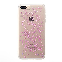 For iPhone X iPhone 8 Case Cover Translucent Back Cover Case Heart Glitter Shine Soft TPU for Apple iPhone X iPhone 8 Plus iPhone 8