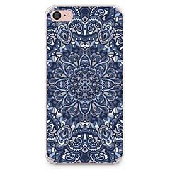 Kompatibilitás iPhone X iPhone 8 tokok Minta Hátlap Case Mandala Puha Hőre lágyuló poliuretán mert Apple iPhone X iPhone 8 Plus iPhone 8