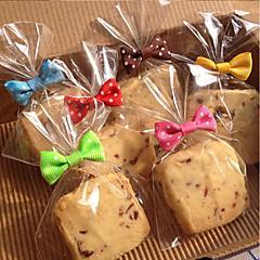50pcs 활 매듭 쿠키 가방 봉인 제빵 빵 롤리팝 케이크 패키지 임의의 색상