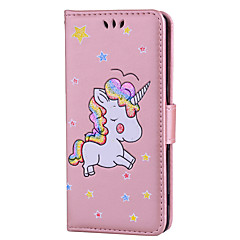 For Case Cover Card Holder with Stand Flip Pattern Full Body Case Unicorn Hard PU Leather for Sony Sony Xperia XZ Sony Xperia X Sony