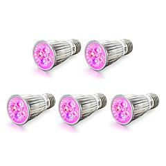 E14 E27 Luci LED per la coltivazione 5 LED ad alta intesità 450-550 lm Rosso Blu K V