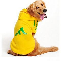 お買い得  犬用ウェア&アクセサリー-犬 スウェットシャツ 犬用ウェア ボーン グレー / イエロー / レッド コットン コスチューム ペット用 カジュアル/普段着
