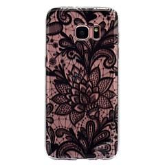 billige Galaxy S6 Edge Etuier-Etui Til Samsung Galaxy S8 Plus S8 IMD Transparent Mønster Bagcover Blonde Tryk Blødt TPU for S8 S8 Plus S7 edge S7 S6 edge S6 S5