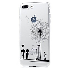 voordelige iPhone 7 Plus hoesjes-hoesje Voor Apple iPhone X iPhone 8 Ultradun Patroon Achterkant Paardebloem Zacht TPU voor iPhone X iPhone 8 Plus iPhone 8 iPhone 7 Plus