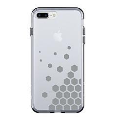 Назначение iPhone 7 iPhone 7 Plus Чехлы панели Ультратонкий Полупрозрачный С узором Задняя крышка Кейс для Геометрический рисунок Мягкий