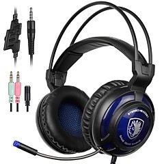 cheap Headsets & Headphones-SA805 Over Ear Headband Wired Headphones Dynamic Plastic Gaming Earphone with Volume Control with Microphone Headset