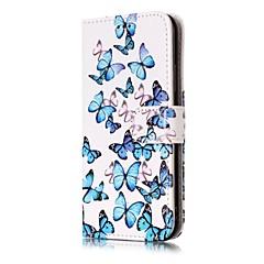 baratos Capinhas para iPhone-Capinha Para Apple iPhone X iPhone X iPhone 8 iPhone 8 Plus Porta-Cartão Carteira Com Suporte Flip Estampada Capa Proteção Completa
