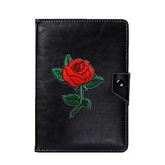 7 인치 8 인치 9 인치 10 인치 태블릿 pc에 대 한 보편적 인 꽃 pu 가죽 스탠드 커버 케이스