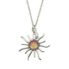 preiswerte Halsketten-Damen Anhängerketten - Hülle Blume Grundlegend, Modisch Rosa, Hellblau, Leicht Grün Modische Halsketten Für Alltag, Normal