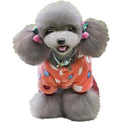 お買い得  犬用ウェア&アクセサリー-犬 ジャンプスーツ 犬用ウェア 水玉 / 波点 ファブリック / コットン / ダウン コスチューム ペット用 カジュアル/普段着