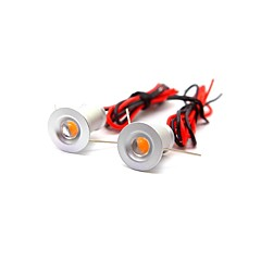 voordelige Binnenverlichting-ONDENN 2pcs 1W 100lm 1 LEDs Decoratief Verzonken lampen Warm wit Koel wit DC 12VV
