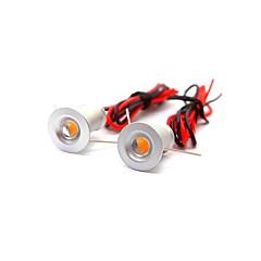 2 stk 1w mini ledet downlight spotlight varm hvid / kold hvid dc12v