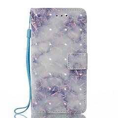 Недорогие Кейсы для iPhone X-Кейс для Назначение Apple iPhone X iPhone 8 Бумажник для карт Кошелек со стендом Флип Магнитный С узором Чехол Мрамор Твердый Кожа PU для