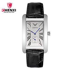 CHENXI® Heren Modieus horloge Dress horloge Chinees Kwarts Leer Band Informeel Cool Zwart Bruin