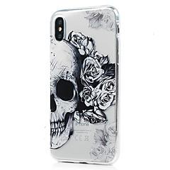 Назначение iPhone X iPhone 8 iPhone 8 Plus Чехлы панели Ультратонкий Прозрачный С узором Задняя крышка Кейс для Черепа Мягкий Термопластик