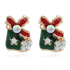 Women's Stud Earrings Hoop Earrings Adorable Bling Bling Rhinestone Alloy Jewelry Christmas Club