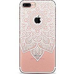 Til iPhone 7 iPhone 7 Plus Etuier Ultratyndt Transparent Mønster Bagcover Etui Mandala-mønster Blonde Tryk Blødt TPU for Apple iPhone 7