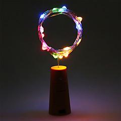 お買い得  LED ストリングライト-2m ストリングライト 20 LED 温白色 / RGB / ホワイト バッテリー