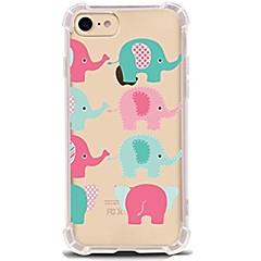 Назначение iPhone X iPhone 8 Чехлы панели Ультратонкий Прозрачный С узором Задняя крышка Кейс для Слон Мягкий Термопластик для Apple