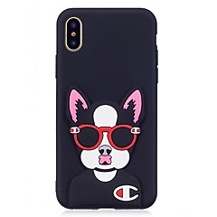 cheap iPhone Cases-Case For Apple iPhone X iPhone 8 Pattern DIY Back Cover Dog 3D Cartoon Soft TPU for iPhone X iPhone 8 Plus iPhone 8 iPhone 7 Plus iPhone