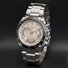 お買い得  メンズ腕時計-男性用 リストウォッチ カジュアルウォッチ ステンレス バンド チャーム シルバー