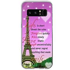 hoesje Voor Patroon Achterkantje Woord / tekst Eiffeltoren Zacht TPU voor Note 8 Note 5 Edge Note 5 Note 4 Note 3 Lite Note 3 Note 2 Note