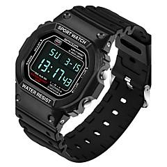 preiswerte Tolle Angebote auf Uhren-SANDA Herrn Modeuhr Armbanduhr Japanisch Digital 30 m Schlussverkauf Silikon Band digital Charme Schwarz - Schwarz Rot Blau