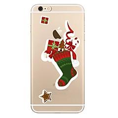 Недорогие Кейсы для iPhone 6-Кейс для Назначение Apple iPhone X iPhone 8 iPhone 8 Plus Прозрачный С узором Задняя крышка Рождество Мягкий TPU для iPhone X iPhone 8